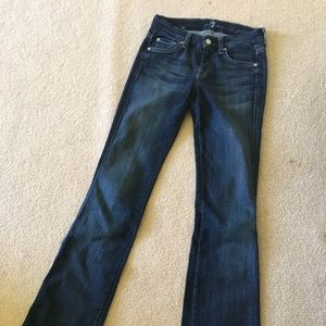 Like-new 7 For All Mankind Size 25 Dark Jeans